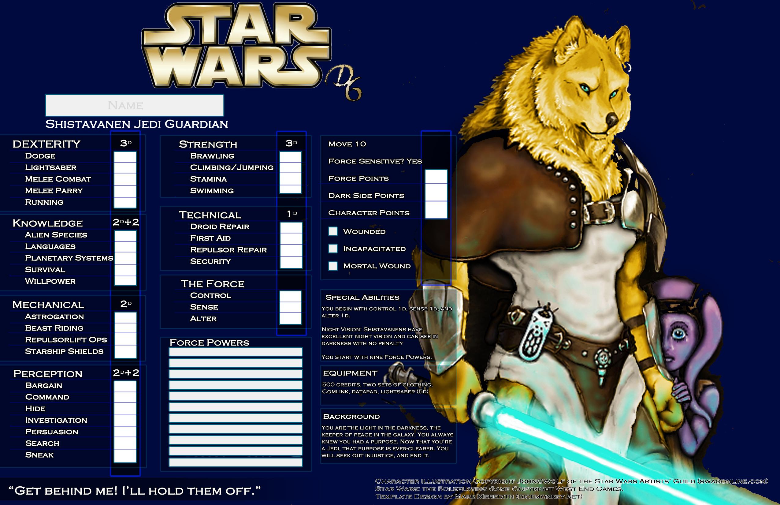 star wars d6 templates  u2013 dice monkey