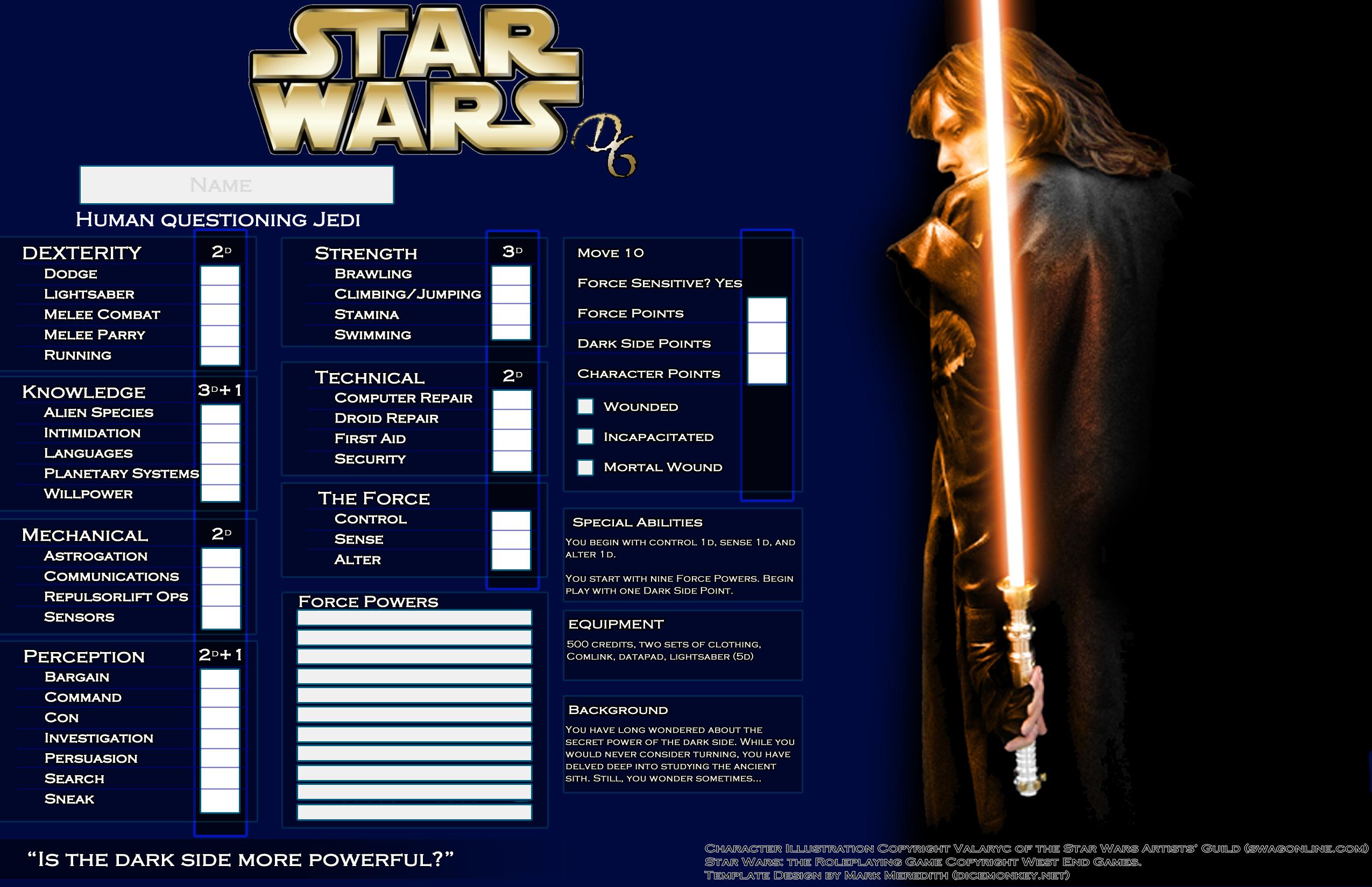 Star Wars D6 Templates – Dice Monkey